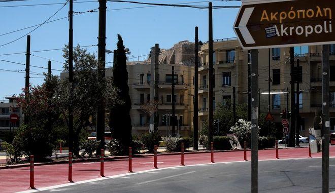 Έργα του Δήμου Αθηναίων στην Λεωφόρο Βασιλίσσης Όλγας για τον Μεγάλο Περίπατο