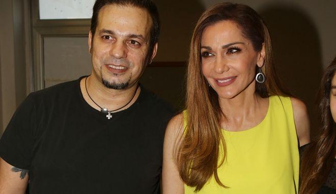 Ο παλαίμαχος ποδοσφαιριστής Ντέμης Νικολαΐδης και η τραγουδίστρια Δέσποινα Βανδή