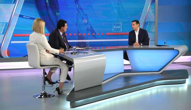 Συνέντευξη του Πρωθυπουργού, Αλέξη Τσίπρα στον Τηλεοπτικό σταθμό Σκαϊ, Τρίτη 2 Ιουλίου 2019. (EUROKINISSI/ ANDREA BONETTI/ ΓΡΑΦΕΙΟ ΤΥΠΟΥ ΠΘ)