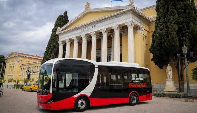Παρουσίαση του ηλεκτρικού λεωφορείου BYD στην Ελλάδα τον Απρίλιο του 2019