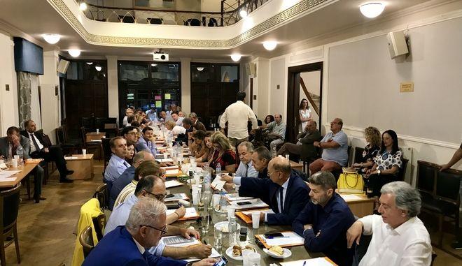 Εικόνα από την ολομέλεια των προέδρων των δικηγορικών συλλόγων Ελλάδας