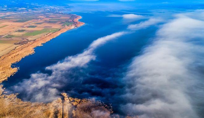 Πάνω απο τα σύννεφα / Λίμνη Βόλβη (MOTIONTEAM/ΒΑΣΙΛΗΣ ΒΕΡΒΕΡΙΔΗΣ)