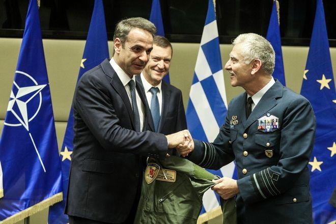 Επίσκεψη του Πρωθυπουργού Κυριάκου Μητσοτάκη στο Υπουργείο Εθνικής Άμυνας, Τετάρτη 17 Ιουλίου 2019.  (EUROKINISSI/ ΓΙΩΡΓΟΣ ΚΟΝΤΑΡΙΝΗΣ)