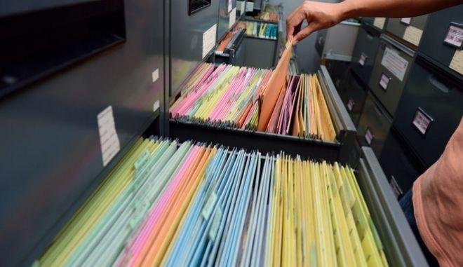 Αρχείο εγγράφων. Φωτο αρχείου.