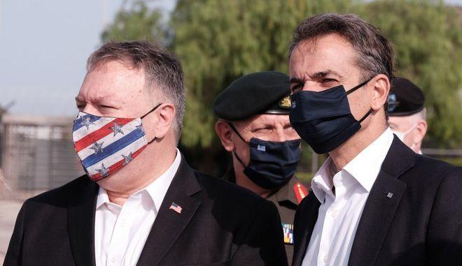 Επίσκεψη του Πρωθυπουργού Κυριάκου Μητσοτάκη και του υπουργού Εξωτερικών των ΗΠΑ Μάικ Πομπέο στις στρατιωτικές εγκαταστάσεις της Βάσης της Σούδας