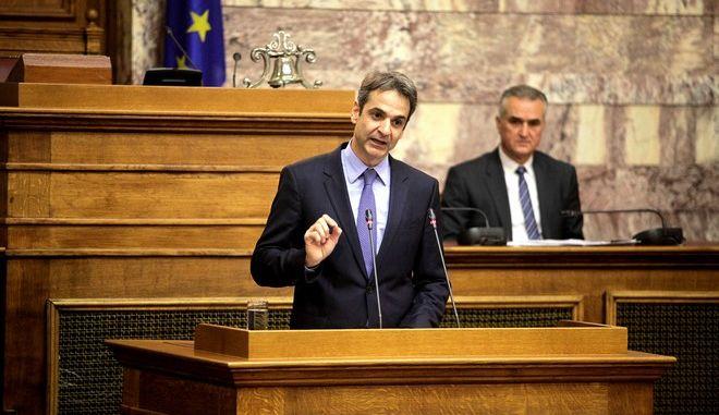 Συνεδρίαση της Κοινοβουλευτικής Ομάδας της Νέας Δημοκρατίας για πρώτη φορά μετά την εκλογή του Κυριάκου Μητσοτάκη στην ηγεσία της, την Πέμπτη 14 Ιανουαρίου 2016. (EUROKINISSI/ΓΙΩΡΓΟΣ ΚΟΝΤΑΡΙΝΗΣ)