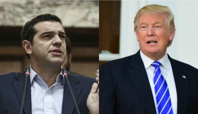 Θαυμαστής της Ελλάδας δήλωσε ο Τραμπ στον Τσίπρα