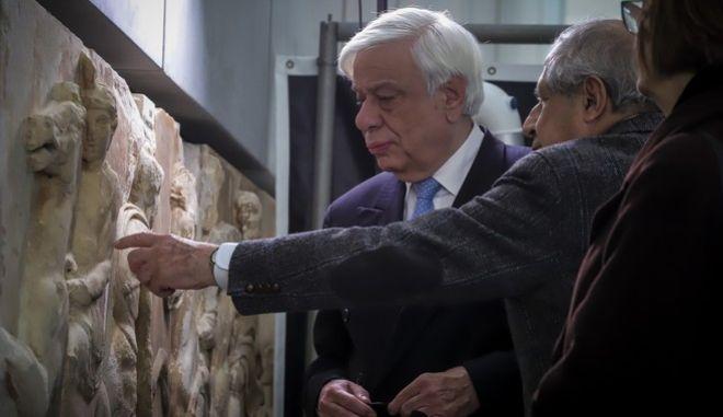 Φωτό αρχείου: Ο Πρόεδρος της Δημοκρατίας Προκόπης Παυλόπουλος στο Μουσείο της Ακρόπολης