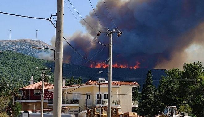 Νέα φωτιά: Εκκενώνονται Βίλια και Προφήτης Ηλίας - Οι φλόγες προς τα σπίτια