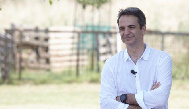 Επίσκεψη του Προέδρου της Νέας Δημοκρατίας, Κυριάκου Μητσοτάκη, στο νομό Καρδίτσας το Σάββατο 24 Ιουνίου 2017, κατά την διήμερη περιοδεία του στη Θεσσαλία. Νωρίτερα, ο Κυρ. Μητσοτάκης επισκέφθηκε κτήμα που καλλιεργείται το φυτό Ιπποφαές, όπου και είχε την ευκαιρία να συνομιλήσει με αγρότες και ενημερώθηκε για τον τρόπο καλλιέργειας, αλλά και για τα προβλήματα που αντιμετωπίζει σήμερα ο αγροτικός κόσμος. Ακολούθως, ο Κυρ. Μητσοτάκης συναντήθηκε στο χωριό Άγιος Θεόδωρος με την ομάδα παραγωγών Ιπποφαές, όπου και ενημερώθηκε για τα ιδιαίτερα χαρακτηριστικά και τις ποικιλίες του συγκεκριμένου φυτού, για τη διαφοροποίηση του τελικού προϊόντος σε σχέση με το κόστος παραγωγής,  για το χαμηλό κόστος παραγωγής, αλλά και για τις ευεργετικές ιδιότητες για την υγεία των ανθρώπων. (EUROKINISSI/ΓΡΑΦΕΙΟ ΤΥΠΟΥ ΝΔ/ΔΗΜΗΤΡΗΣ ΠΑΠΑΜΗΤΣΟΣ)