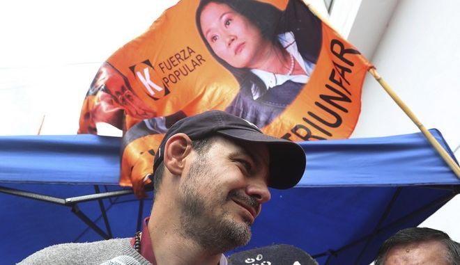 O σύζυγος της Κέικο Φουχιμόρι σε διαμαρτυρία υπέρ της αποφυλάκισής της