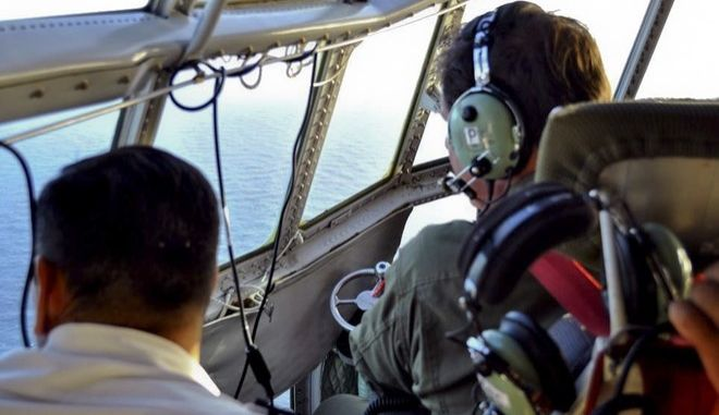 In this Tuesday, Nov. 21, 2017 photo released by the Argentine Navy on Nov. 22, members of the Argentine Air Force search for a missing submarine in the South Atlantic near Argentina's coast. Argentine families of 44 crew members aboard a submarine that has been lost in the South Atlantic for seven days are growing increasingly distressed as experts say the crew might be reaching a critical period of low oxygen on Wednesday. (Argentine Navy via AP)