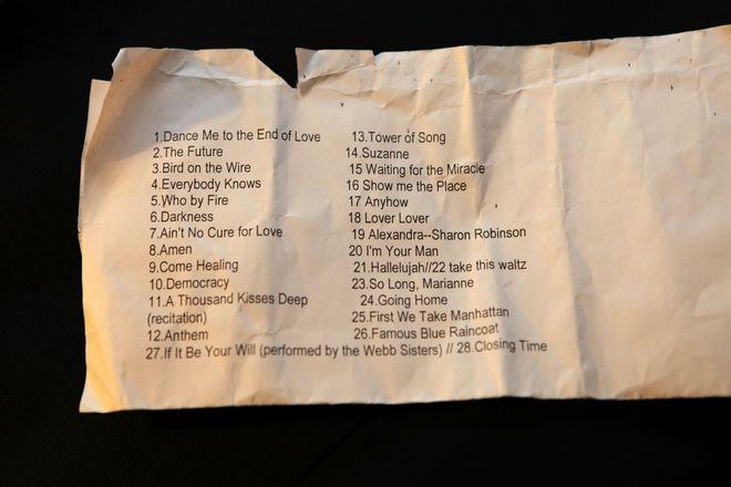 Setlist σπό συναυλία του