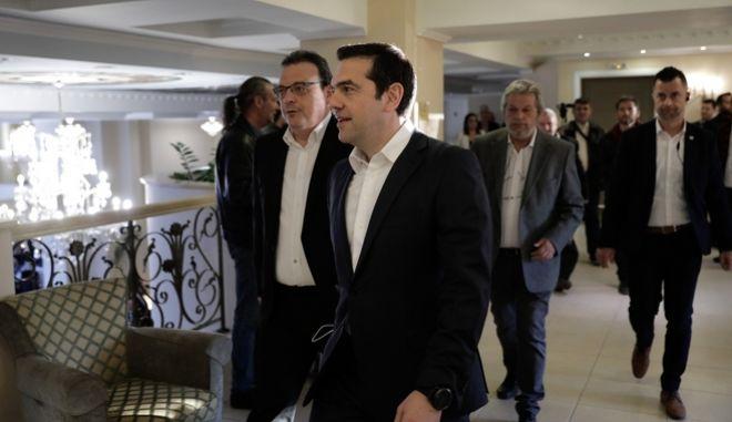 Το 11ο Περιφερειακό Συνέδριο στη Θεσσαλονίκη επισκέφθηκε την τρίτη ημέρα ο πρωθυπουργός Αλέξης Τσίπρας