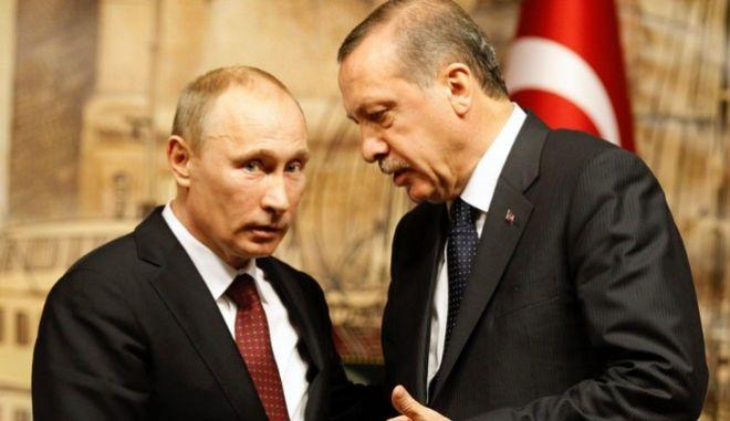 Τηλεφωνική επικοινωνία Πούτιν - Ερντογάν για την 'εξομάλυνση' των σχέσεων των δυο χωρών