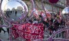 Διαδήλωση στη Μασσαλία κατά της μεταρρύθμισης των συντάξεων