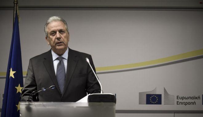 Ο Επίτροπος Μετανάστευσης, Εσωτερικών Υποθέσεων και Ιθαγένειας της Ευρωπαϊκής Ένωσης Δημήτρης Αβραμόπουλος