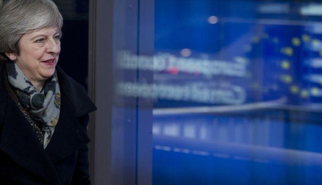 Η βρετανίδα πρωθυπουργός Τερέζα Μέι στις Βρυξέλλες