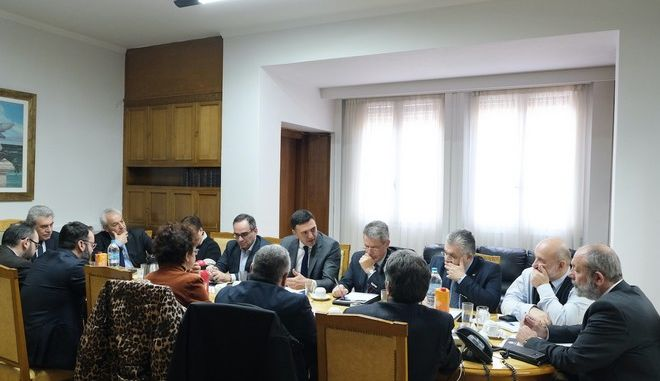 Συνάντηση εργασίας με τους Πρυτάνεις των Πολυτεχνικών και Πανεπιστημιακών εκπαιδευτικών Ιδρυμάτων της χώρας με την ηγεσία του Υπουργείου Υγείας.