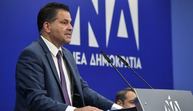 Ο γραμματέας του Πολιτικής Επιτροπής της ΝΔ Γιώργος Στεργίου