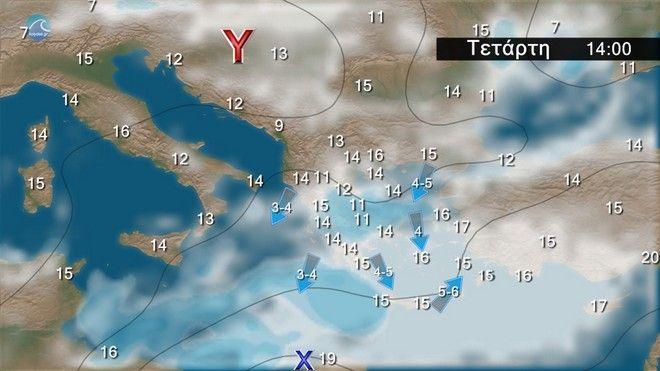 Καιρός: Βροχερός το επόμενο διήμερο - Βοριάδες και πτώση της θερμοκρασίας