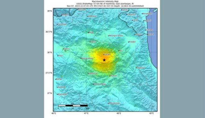 Σεισμός 5,9 Ρίχτερ στο Ιράν: Τουλάχιστον 5 νεκροί και 120 τραυματίες