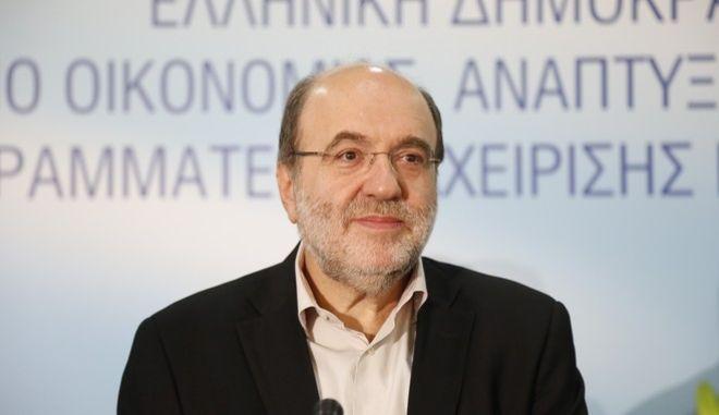 Ο υπεύθυνος της οικονομικής πολιτικής του ΣΥΡΙΖΑ Τρύφωνας Αλεξιάδης (EUROKINISSI/ΣΤΕΛΙΟΣ ΜΙΣΙΝΑΣ)