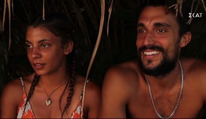 Η Μαριαλένα Ρουμελιώτη και ο Σάκης Κατσούλης του Survivor 4