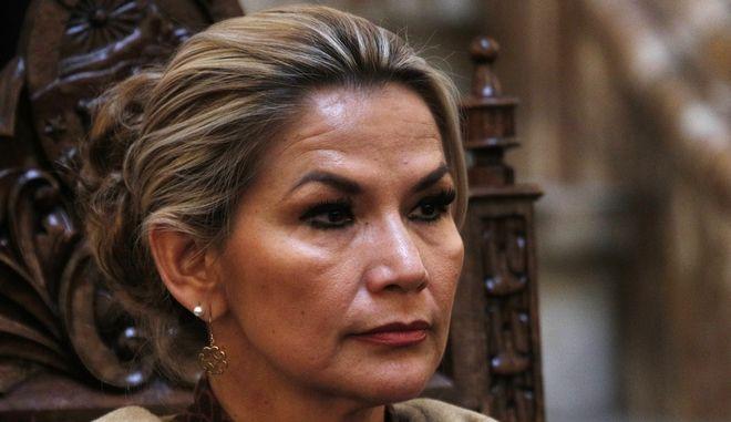 Μεταβατική πρόεδρος της Βολιβίας, η Τζανίνε Άνιες