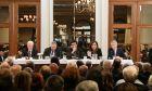 Εκδήλωση του  Κύκλου Ιδεών για την Εθνική Ανασυγκρότηση θέμα: «Οριοθέτηση θαλασσίων ζωνών στη Μεσόγειο και ελληνοτουρκικές σχέσεις».Στην εκδήλωση συμμετέχουν οι: Ντόρα Μπακογιάννη, Ευάγγελος Βενιζέλος, Παύλος Αποστολίδης,Γιώργος Σαββαΐδης.