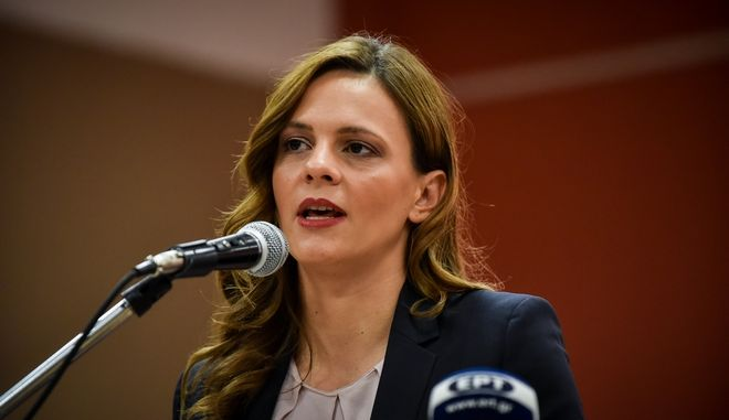 H υπουργός Εργασίας Έφη Αχτσιόγλου