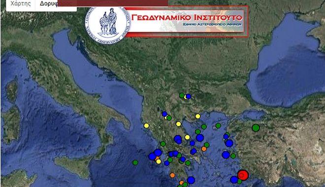 Σεισμός 4,3 R βόρεια της Κω