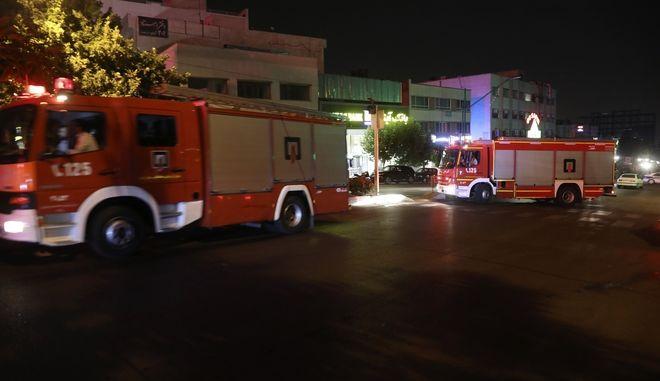 Οχήματα της Πυροσβεστικής στην Τεχεράνη