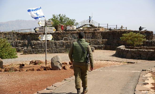 Ισραηλινός στρατιώτης στη περιοχή του Γκολάν