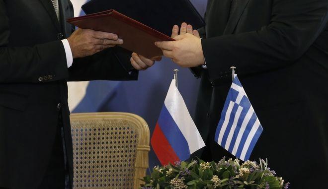 Από προηγούμενη συνάντηση Ρώσων και Ελλήνων αξιωματούχων, Φωτογραφία Αρχείου