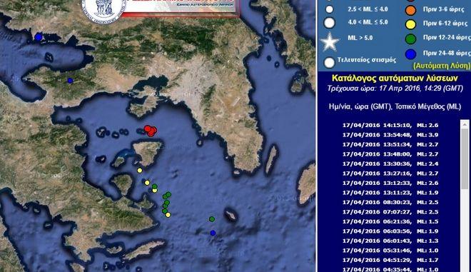 Σεισμός 3.9 Ρίχτερ ανοιχτά της Αίγινας. Έγινε αισθητός σε όλη την Αττική