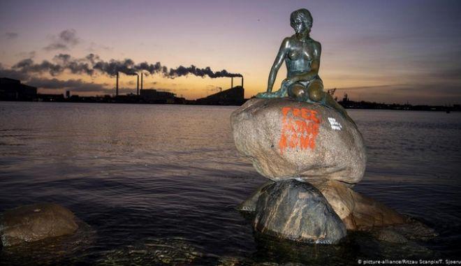 """Δανία: Βανδάλισαν τη """"Μικρή Γοργόνα"""""""