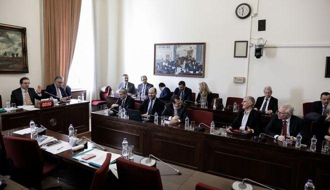 Συνεδρίαση της Ειδικής Κοινοβουλευτικής Επιτροπής προς διενέργεια προκαταρκτικής εξέτασης σχετικά με τη διερεύνηση αδικημάτων που τυχόν έχουν τελεσθεί από τον πρώην Αναπληρωτή Υπουργό Δικαιοσύνης Δημήτρη Παπαγγελόπουλο