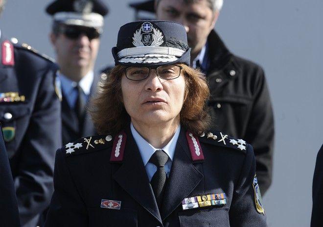 Η αντιστράτηγος σε μνημόσυνο για πεσόντες αστυνομικούς