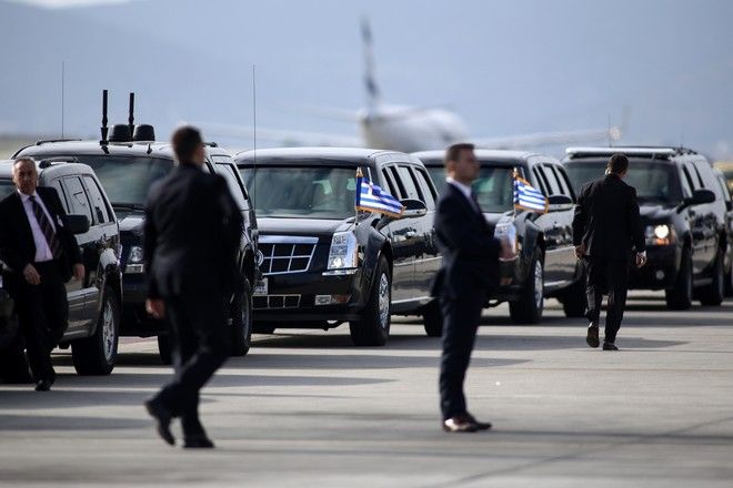 Security measures at the Athens International airport Eleftherios Venizelos before the arrival of the President of the United States, Barack Obama in Athens, Greece on November 15, 2016. /     .           ,  , , 15  2016.