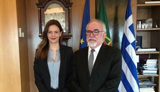 Επίσκεψη Υπ. Εργασίας Ε. Αχτσιόγλου στην Πορτογαλία. Η Υπουργός  συναντήθηκε με τον Πορτογάλο ομόλογό της, Jose AntonioVieiradaSilva, τον Υφυπουργό Εργασίας MiguelCabritaκαι την επικεφαλής της Επιθεώρησης Εργασίας της Πορτογαλίας, Maria Luisa Guimaraes. ΤΕΤΑΡΤΗ 14/2/2018.  (EUROKINISSI/ΓΡ. ΤΥΠΟΥ ΥΠ. ΕΡΓΑΣΙΑΣ)