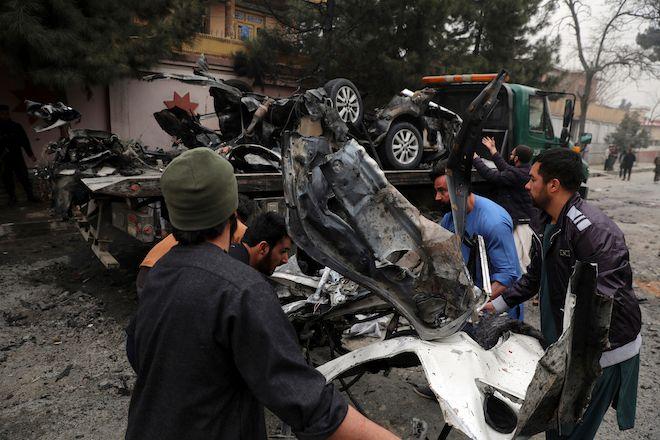 Έκρηξη βόμβας στην Καμπούλ, Αφγανιστάν, 20 Φεβρουαρίου 2021.