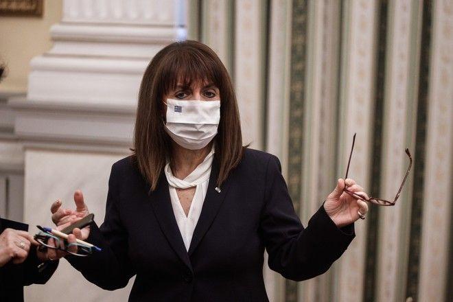 Η ΠτΔ Κατερίνα Σακελλαροπούλου στην ορκωμοσία των νέων υπουργών και υφυπουργών