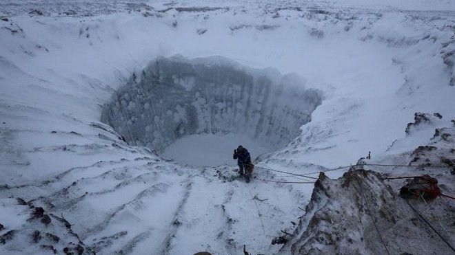 Ο πρώτος από τους κρατήρες στη Σιβηρία που ανακαλύφθηκε το 2013
