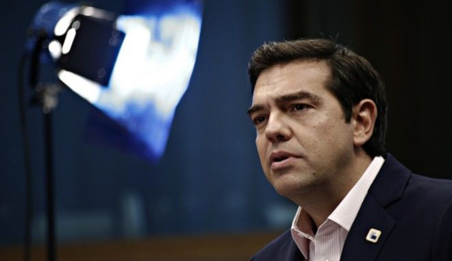 Greek's Prime Minister Alexis Tsipras holds a news conference after the EU summit in Brussels, Belgium on Oct. 21, 2016.