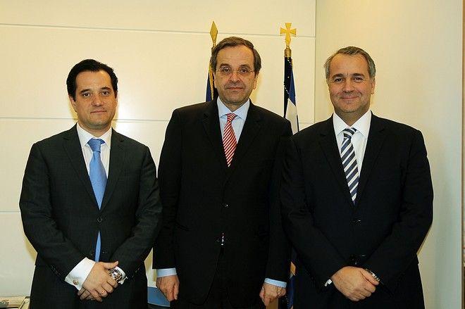 Άδωνις Γεωργιάδης, Αντώνης Σαμαράς, Μάκης Βορίδης - Φωτογραφία αρχείου