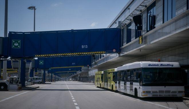Στιγμιότυπο από το διεθνές αεροδρόμιο Ελευθέριος Βενιζέλος.