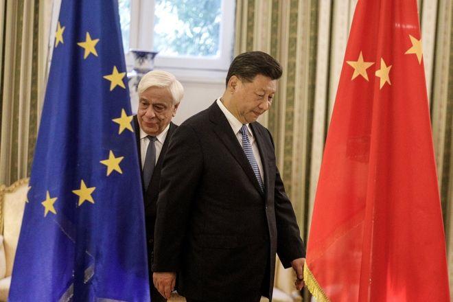 Συνάντηση του Προέδρου της Δημοκρατίας Προκόπη Παυλόπουλου με τον Πρόεδρο της Κίνας Σι Τζιπίνγκ, την Δευτέρα 11 Νοεμβρίου 2019.