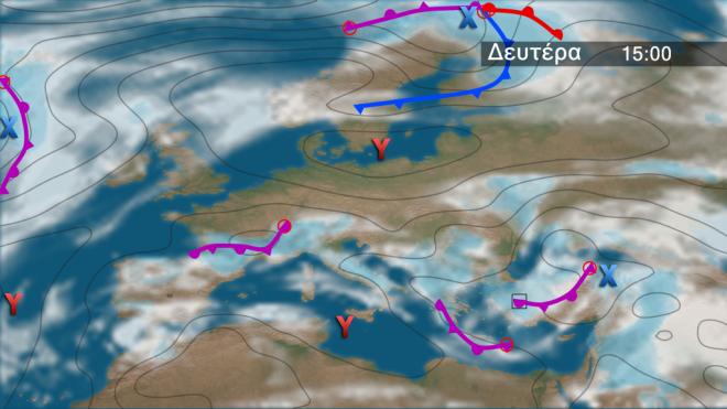 Αυξημένα τα ποσά των βροχοπτώσεων στο μεγαλύτερο μέρος της Νότιας Ευρώπης, ιδιαίτερα στην Ισπανία, μέρος της Νότιας Γαλλίας, στην Ιταλία