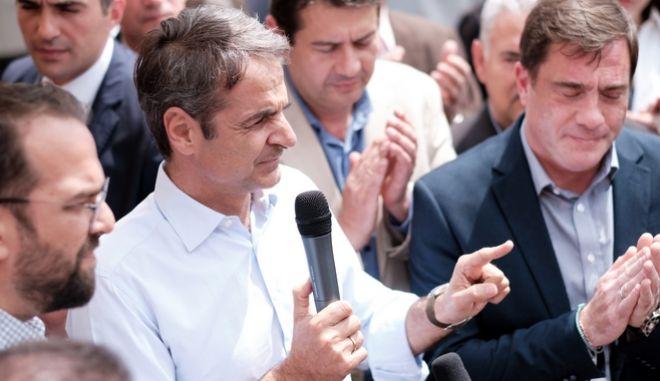 Επίσκεψη του Προέδρου της Νέας Δημοκρατίας Κυριάκου Μητσοτάκη στο Μενίδι Αιτωλοακαρνανίας